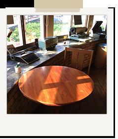 店内のテーブル風景